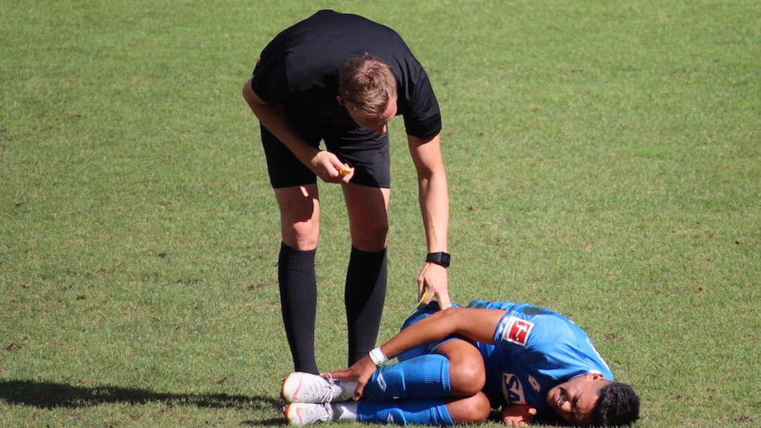 Nadiem Amiri hat sich beim Testspiel gegen SD Eibar verletzt.