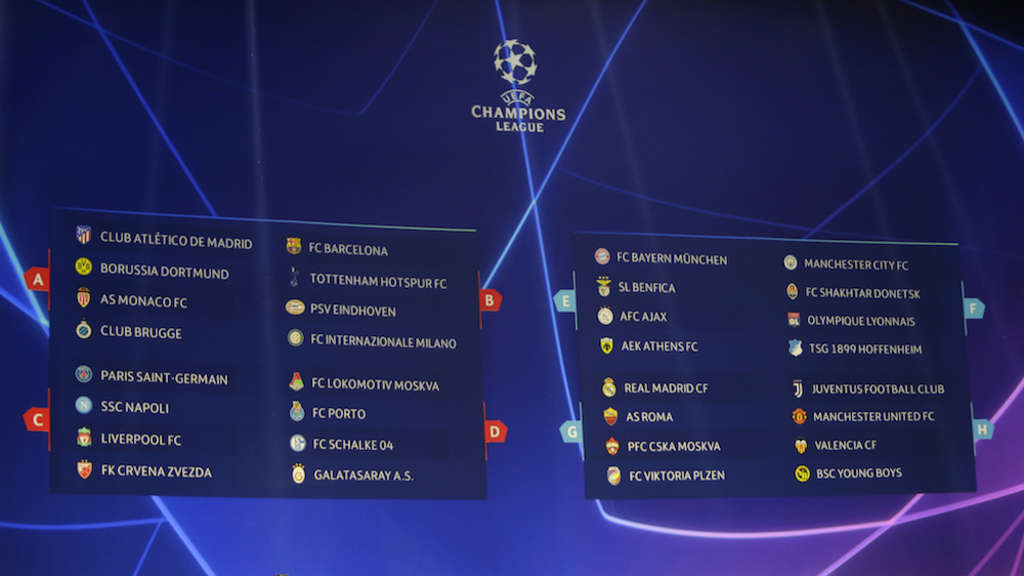 Champions League Gruppenphase