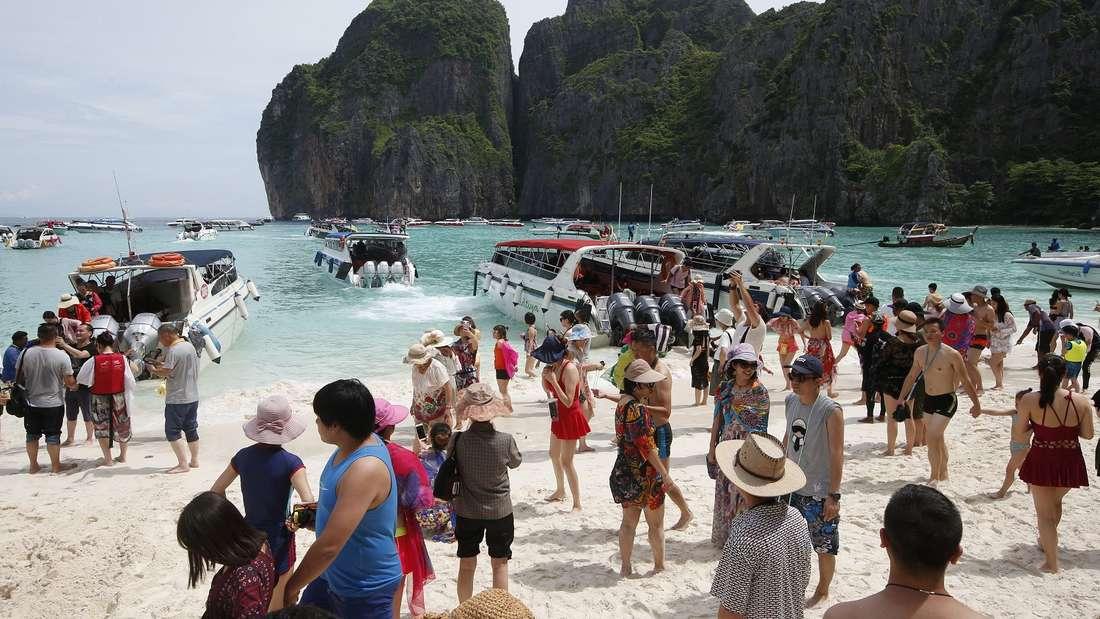 Maya Bay in Thailand - «The Beach»-Traumstrand bleibt geschlossen.