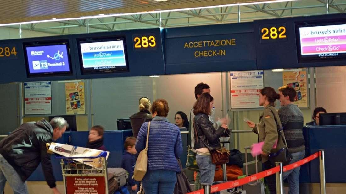 Am Flughafen von Rom wurde ein Koffer gesprengt.