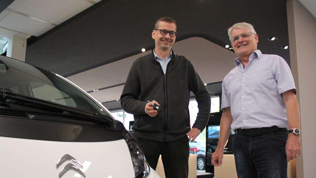 Benjamin ist jetzt stolzer Besitzer eines Citroën C-Zero - das perfekte Auto für die Stadt.