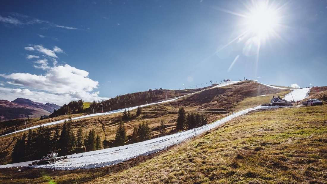 Die Kitzbüheler Bergbahnenstarten in die Skisaison - bei 20 Grad.