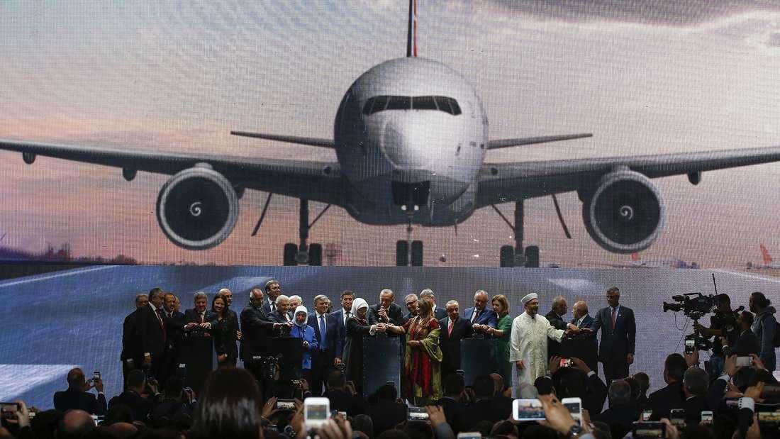Eröffnung des neuen Flughafens in Istanbul.