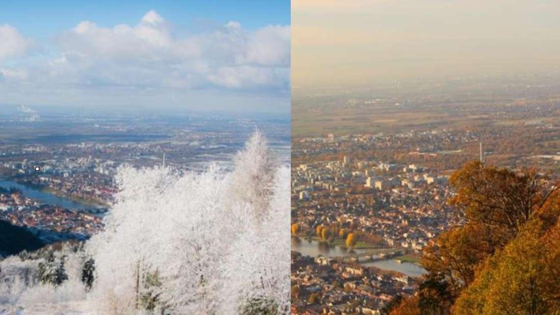 Königstuhl bei Winter und Herbst (Archivfotos)