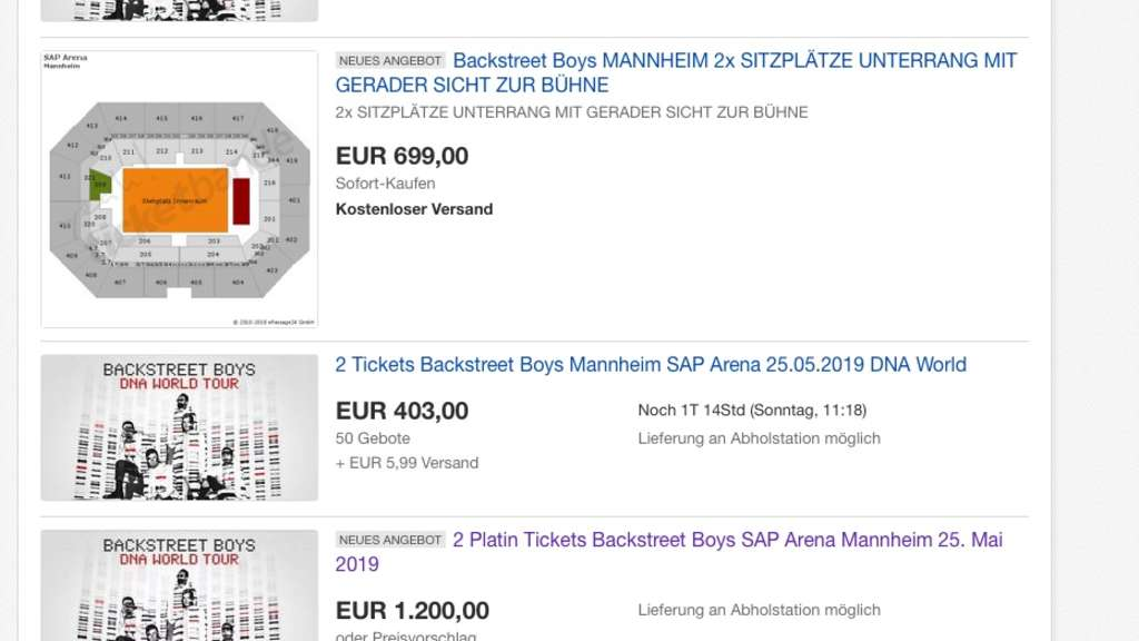 mannheim backstreet boys konzert in sap arena tickets. Black Bedroom Furniture Sets. Home Design Ideas