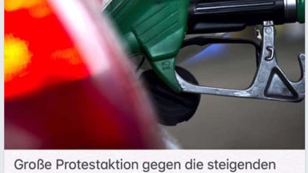 Protestaktion Tanken