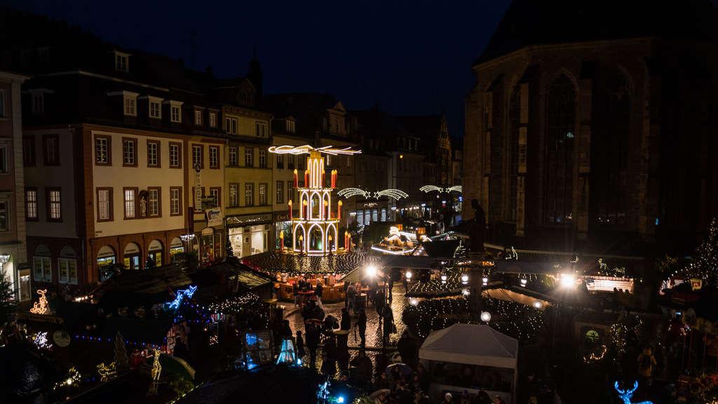 Heidelberg Weihnachtsmarkt.Heidelberg Altstadt Live Rundgang Von Der Eröffnung Des