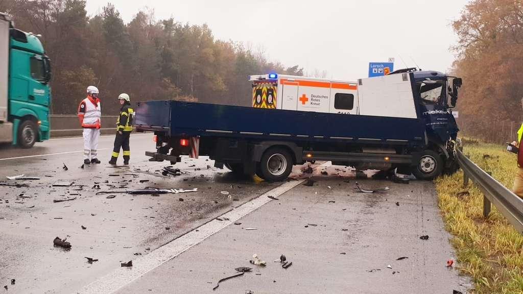 Unfall A67 Lorsch