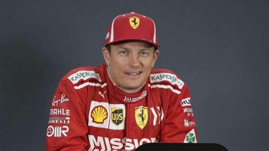 Sorgte außerhalb der Formel-1-Strecke für Lacher: Kimi Räikkönen. Foto: Darren Abate/AP