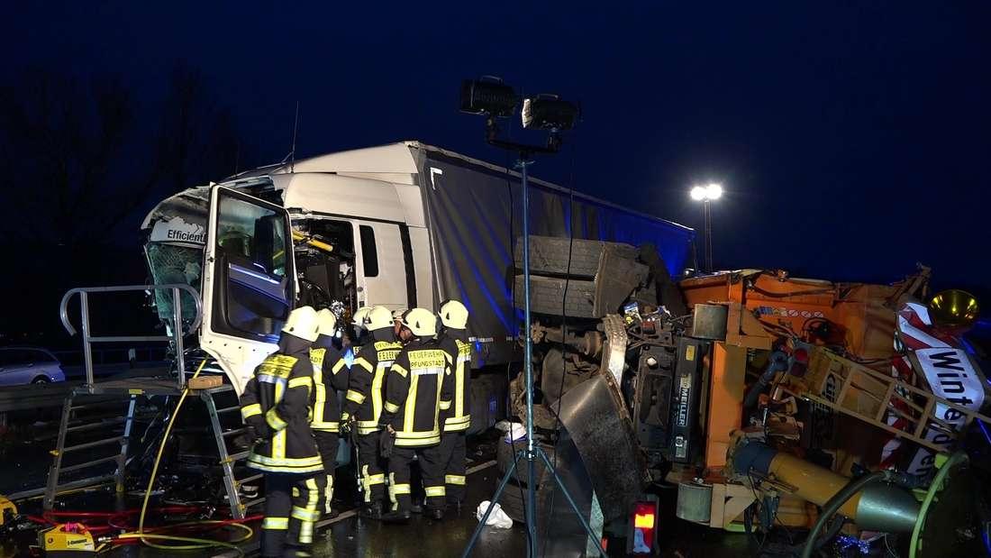 Verfolgungsfahrt auf A5 endet mit Unfall.