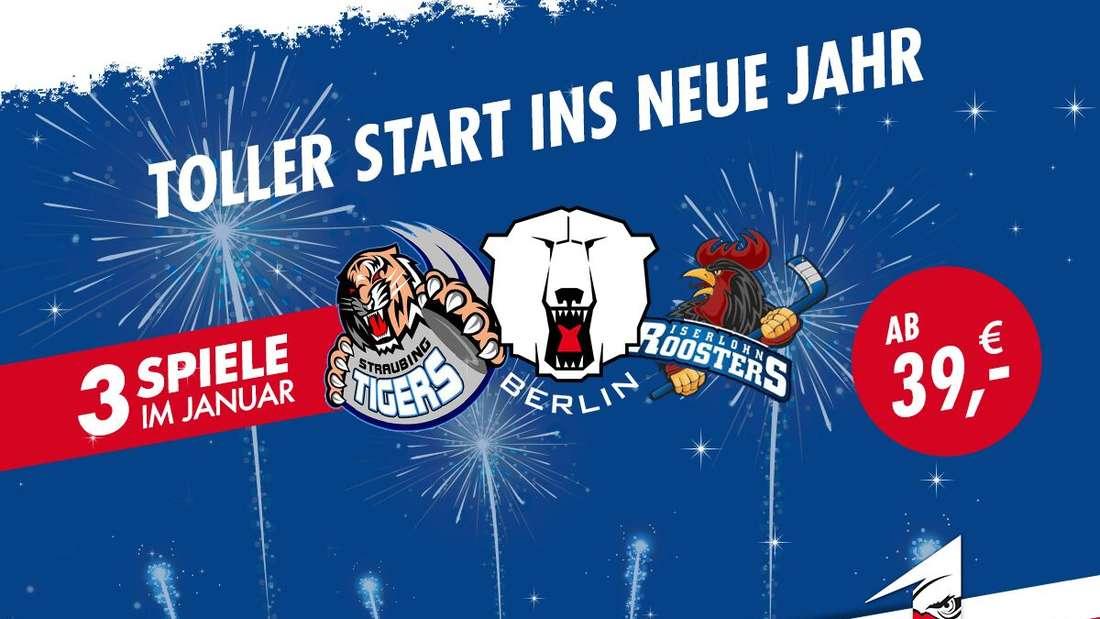 Ticket-Special:3 Adler-Heimspiele ab 39 Euro!