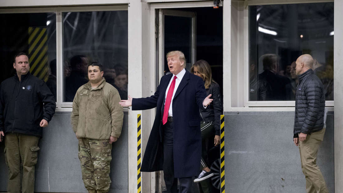 Donald Trump in Ramstein