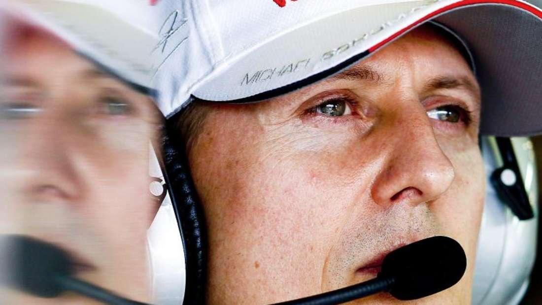 Eine Legende: Der siebenmalige Formel-1-Weltmeister Michael Schumacher. Foto: Diego Azubel/EPA