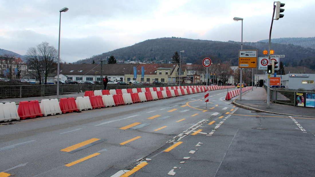 Hebelstraßenbrücke Sperrung