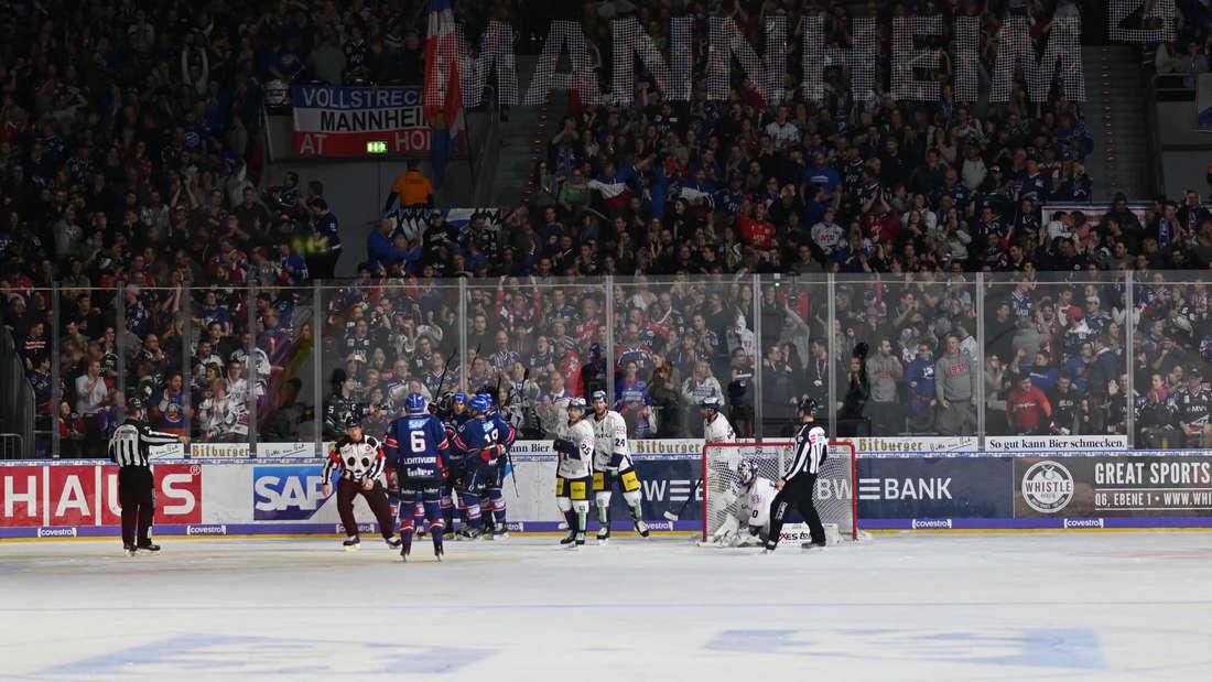 Die Adler Mannheim feiern einen deutlichen Heimerfolg gegen die Eisbären Berlin.