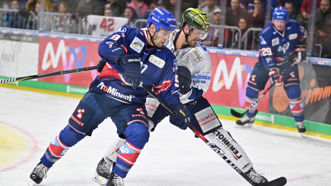 Die Adler Mannheim feiern gegen die Iserlohn Roosters den achten DEL-Sieg in Folge.
