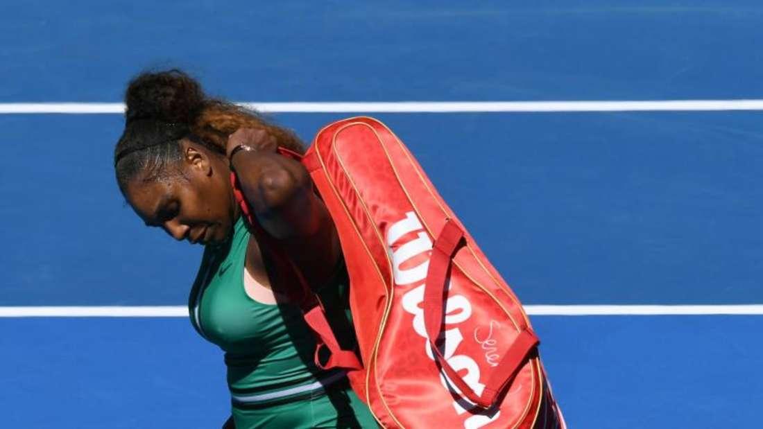 Serena Williams verlor das Match noch im dritten Satz. Foto: Julian Smith/AAP