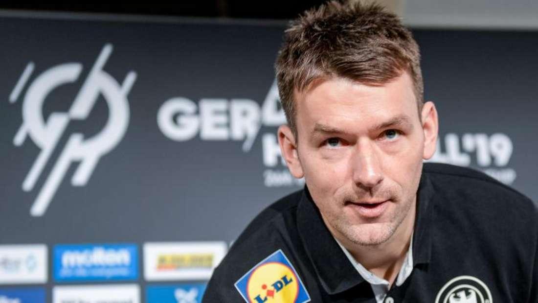 Bundestrainer Christian Prokop stehen für das Spiel gegen Norwegen alle Spieler zur Verfügung. Foto:Axel Heimken