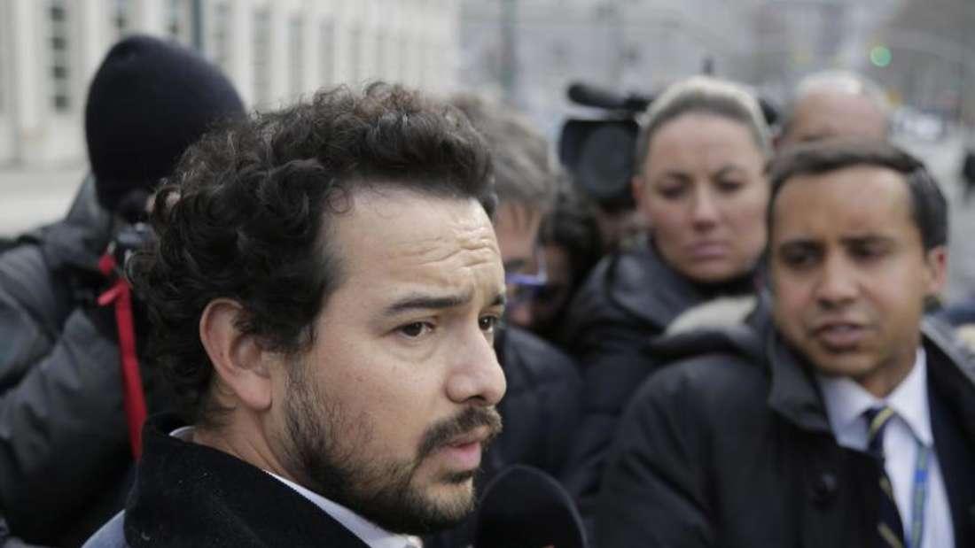 Alejandro Edda vor dem Bundesgericht in Brooklyn. Foto: Seth Wenig/AP