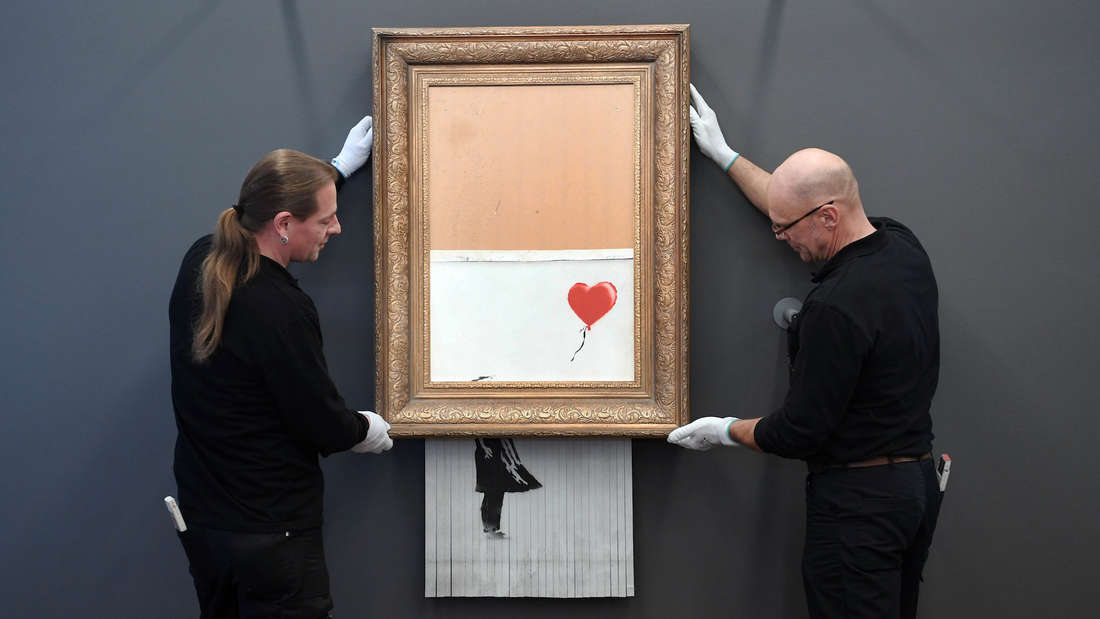 Geschreddertes Banksy-Bild in Baden-Baden