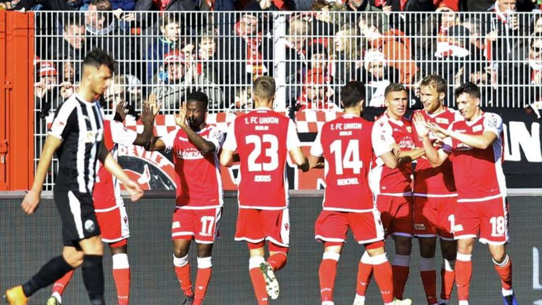 Der 1. FC Union Berlin besiegte vor knapp 20.000 Zuschauern den SV Sandhausen. Foto: Andreas Gora