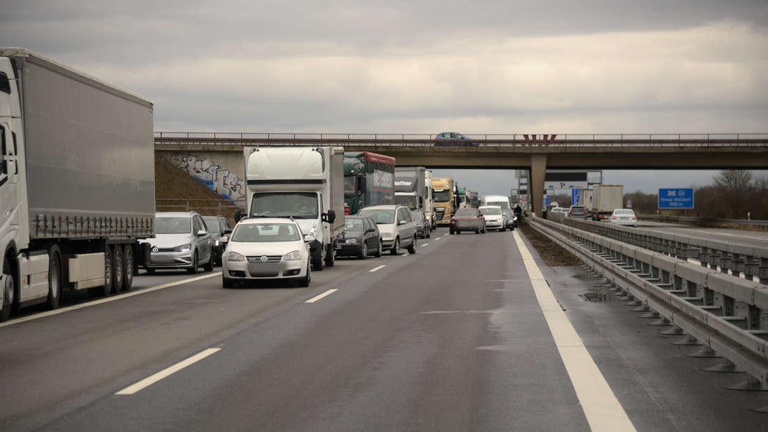 Unfall auf der A5 bei Wiesloch/Walldorf