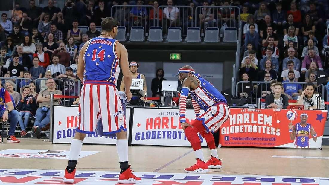 Die Harlem Globetrotters sorgen in der SAP Arena für gute Stimmung und viel staunen.