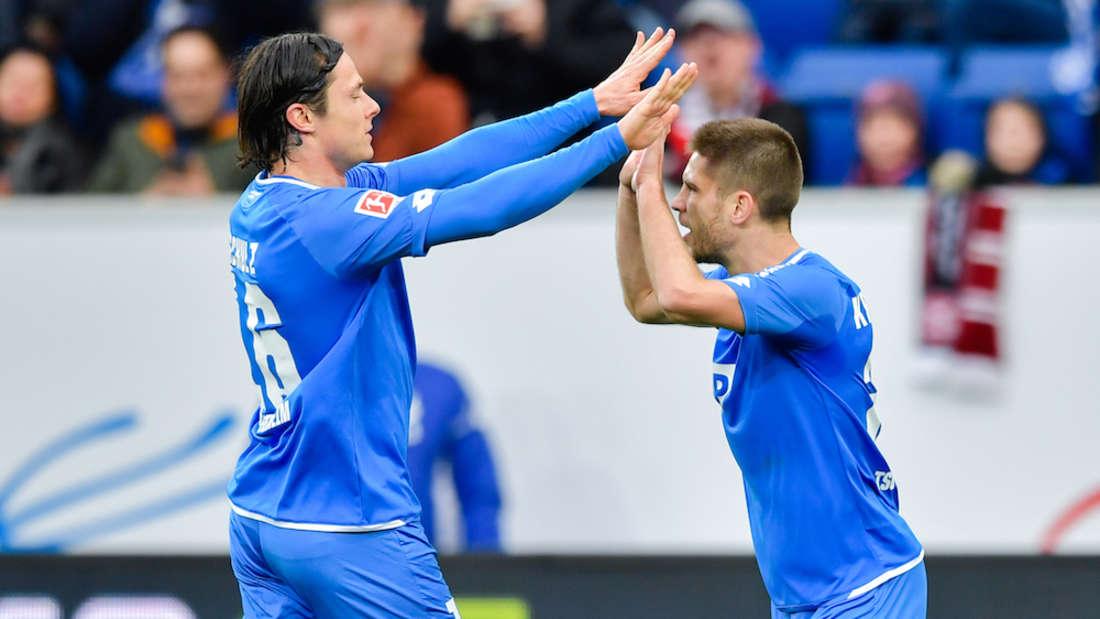 Nico Schulz (li.) fehlt gegen Leverkusen gesperrt, Andrej Kramaric (r.) ist noch fraglich.