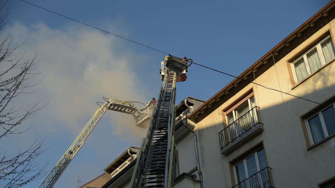 Feuerwehreinsatz in der Mollstraße.