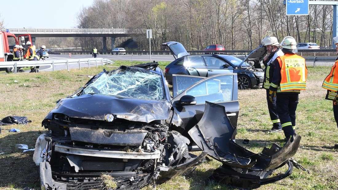 Unfall auf der A5 in Höhe der Abfahrt Zwingenberg