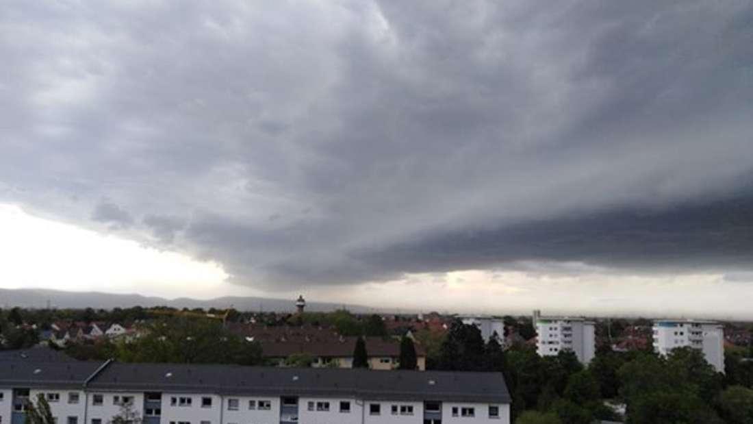 Unwetter mit Sturmböen in Mannheim.