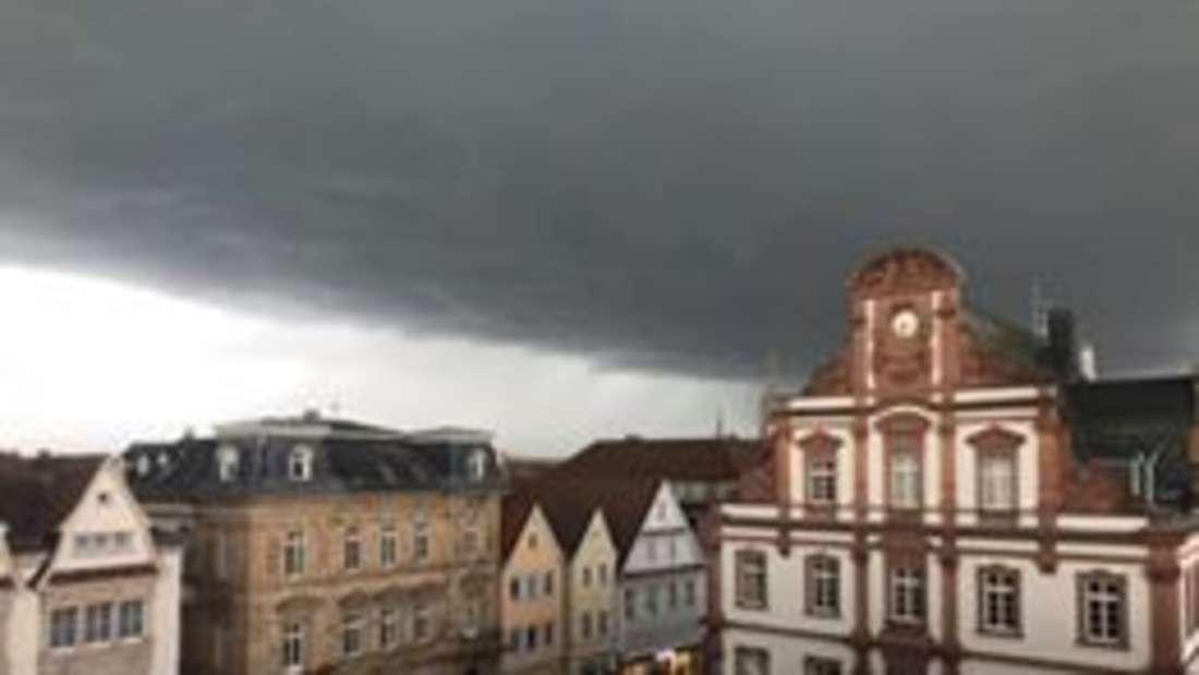 Unwetter mit Sturmböen in Speyer.