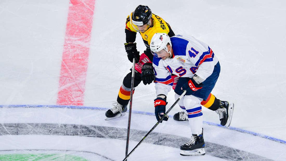 Eishockey-Testspiel Deutschland gegen die USA in der Mannheimer SAP-Arena - Dienstag 7. Mai 2019