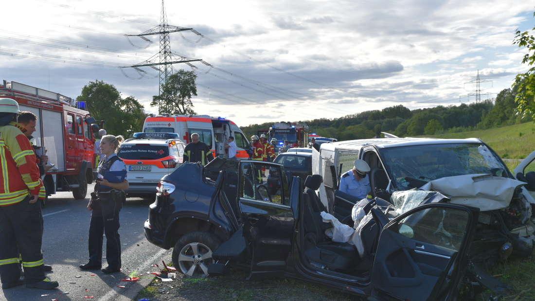 Schwerer Unfall auf der B39 bei Mühlhausen