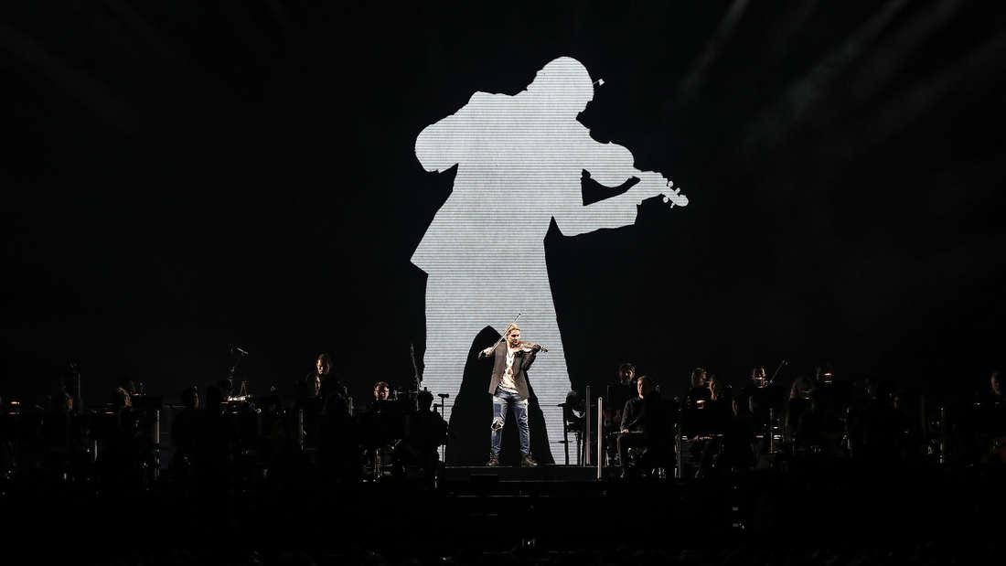 Der Stargeiger David Garrett gibt ein Konzert in der SAP Arena.