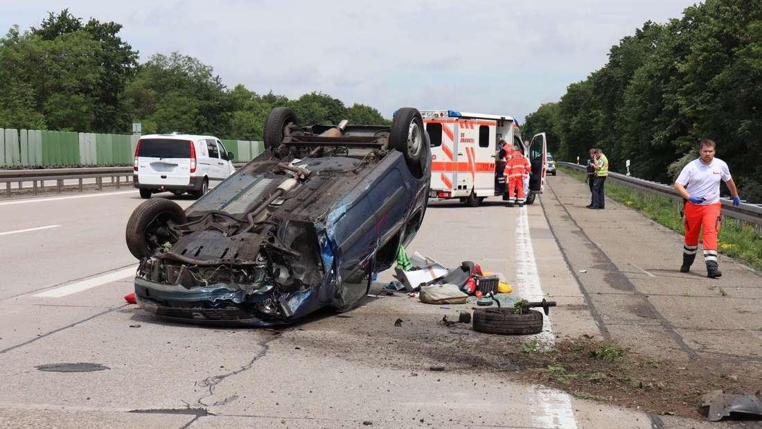 Nach einer Verfolgungsjagd über die A6 wird ein Fahrer in eine Psychiatrie gebracht.