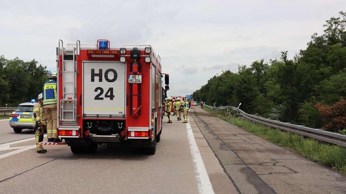 Verfolgungsjagd endet auf der A6 mit Unfall.