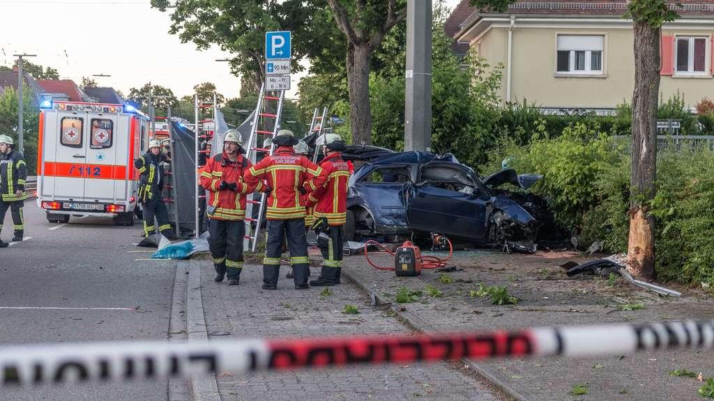 Unfall B36 Karlsruhe