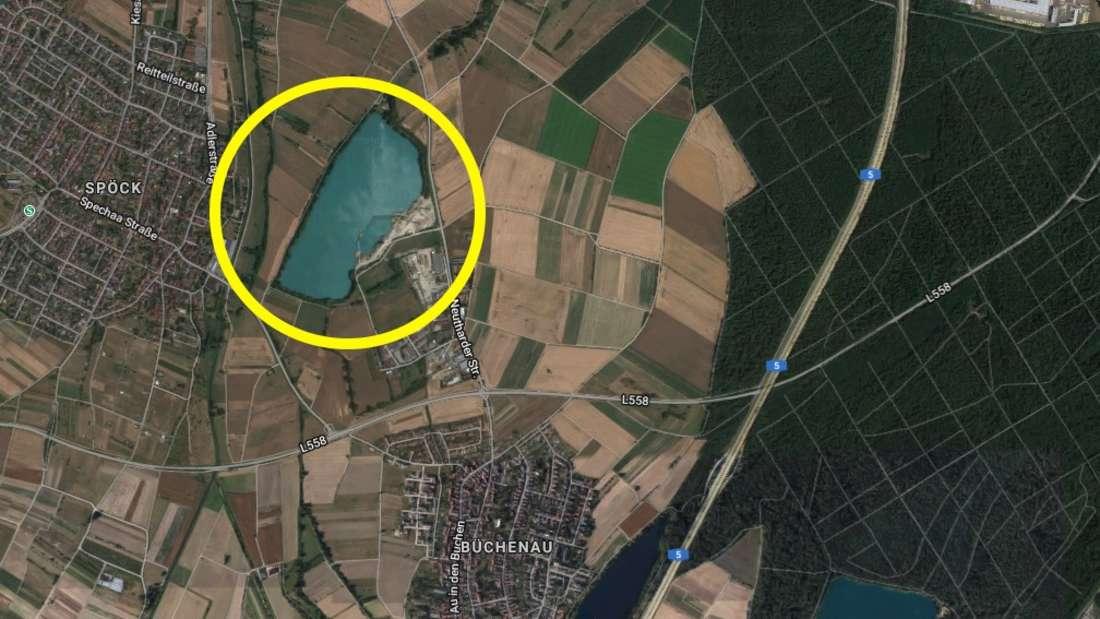 An diesem Baggersee wird eine Leiche entdeckt.