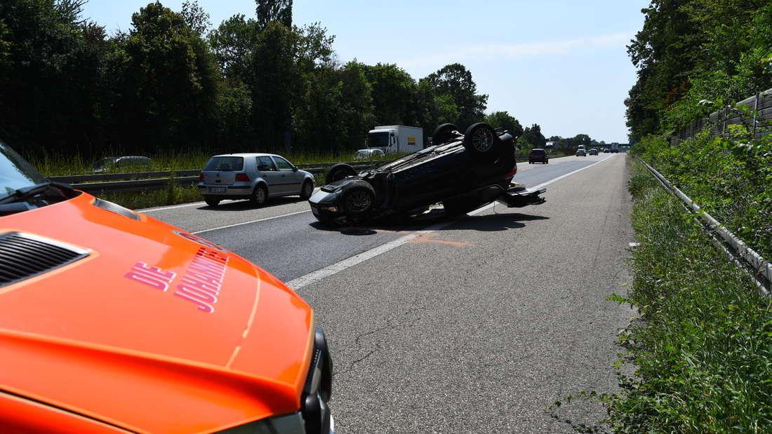 Unfall auf A5 Ladenburg/Dossenheim