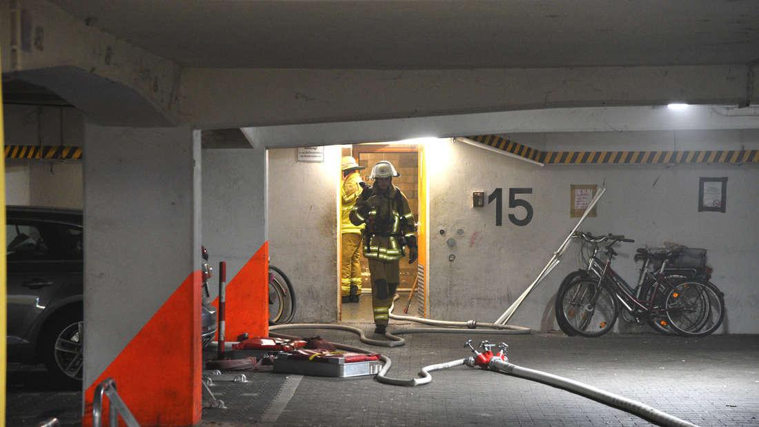 Großeinsatz in der Neckarpromenade: Ein Hochhaus fängt Feuer