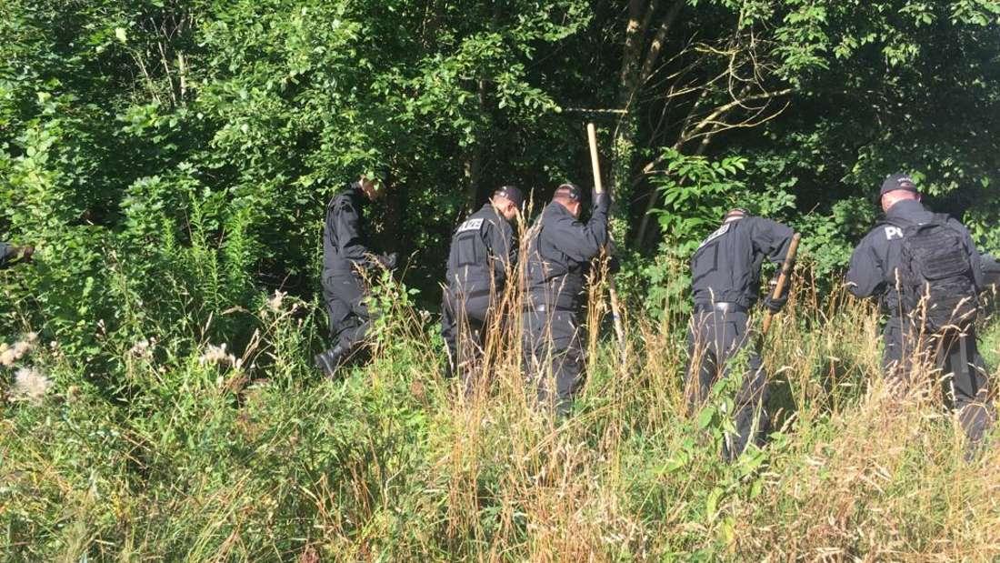 Seit Freitagmorgen durchsucht die Polizei den Truderinger Wald.