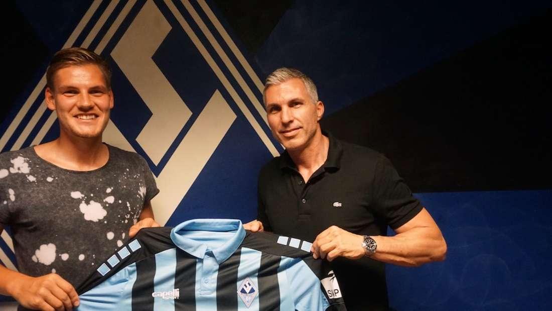 Max Christiansen (li.) spielt künftig für den SV Waldhof Mannheim.