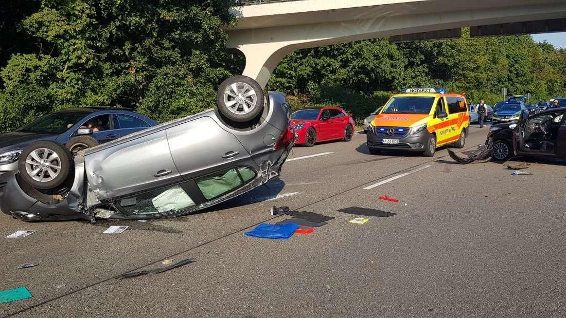 Karlsruhe: Heftiger Unfall auf Südtangente