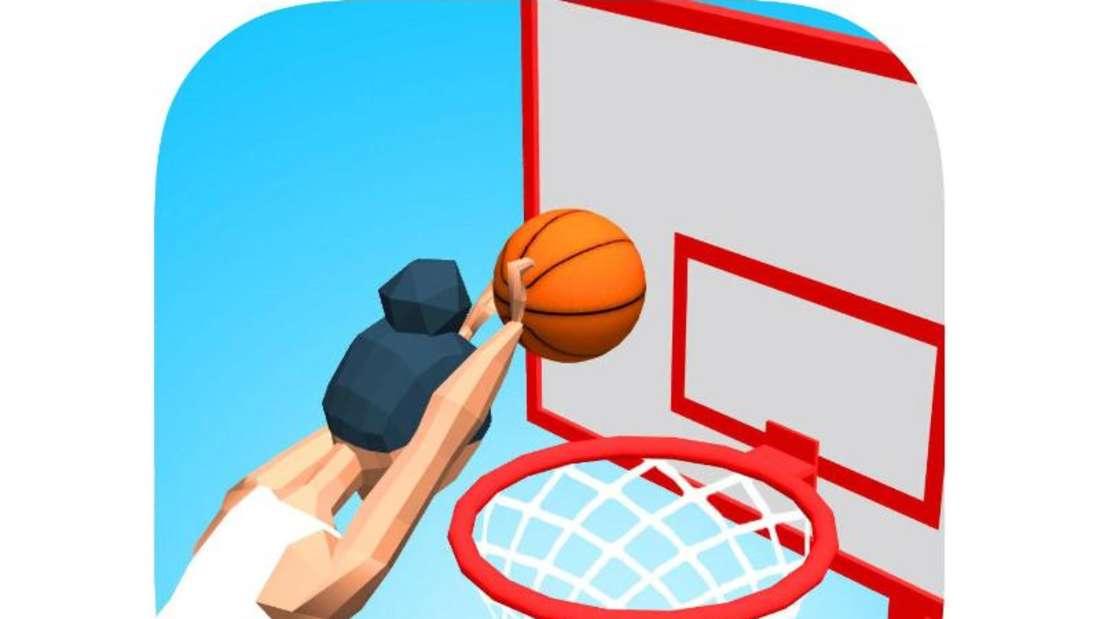 Bei «Flip Dunk» müssen iOS-Nutzer einen Basketball aus verschiedenen Positionen in den Korb werfen. Foto: App Store von Apple/dpa