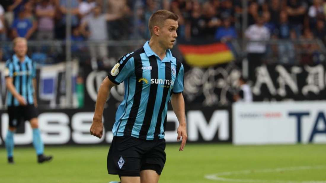 Gianluca Korte droht gegen den MSV Duisburg auszufallen.