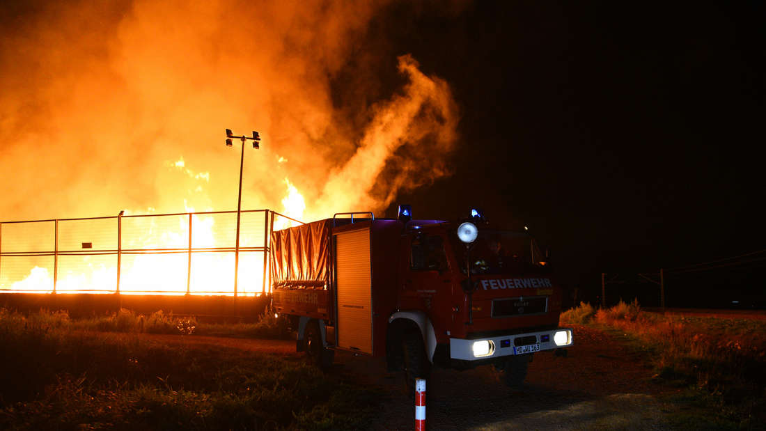 Großbrand auf dem AVR-Gelände in Wiesloch.