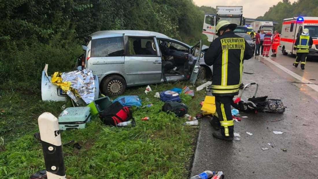 Tragischer Unfall aufgrund von Aquaplaning auf der A81 bei Heilbronn.