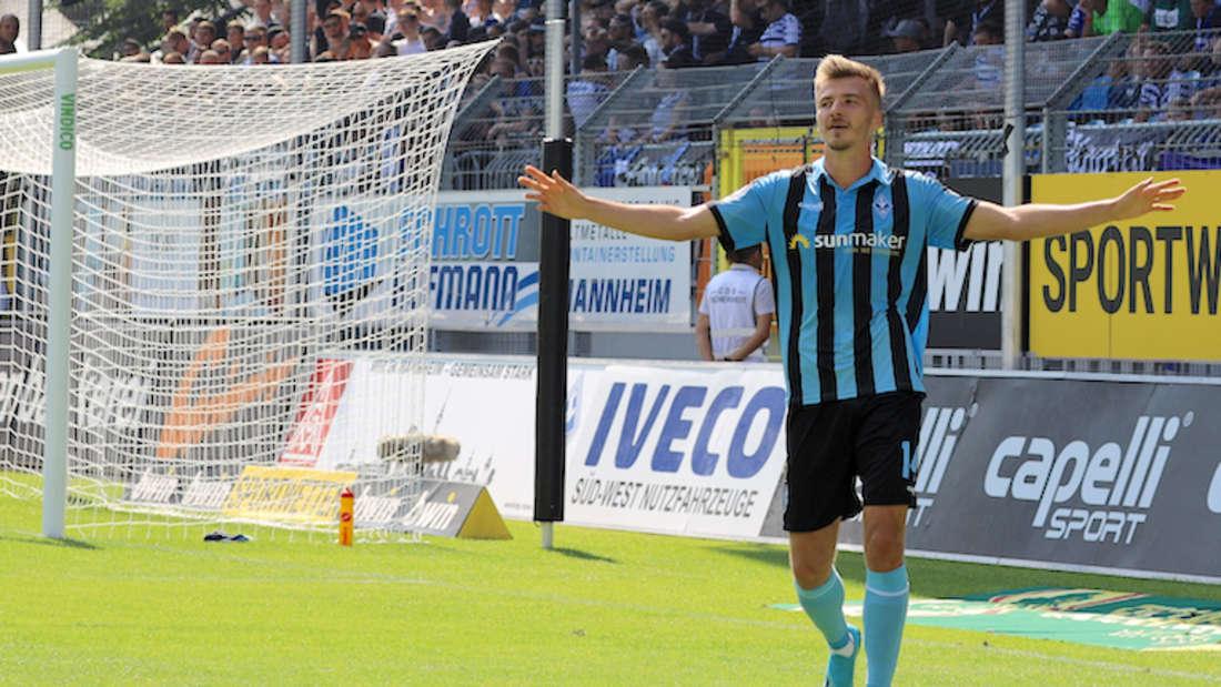 Maurice Deville trifft mit dem SV Waldhof am Sonntag auf seinen Ex-Verein Kaiserslautern.