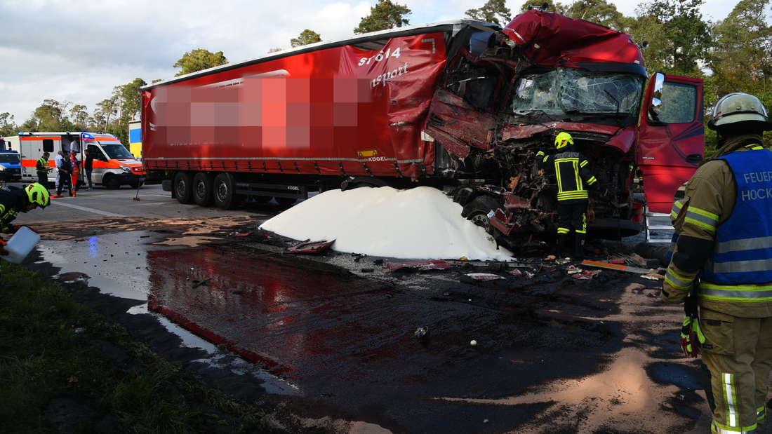 Die Unfallstelle auf der A6 am Montag
